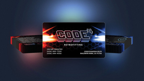 Code 4 Business Cards Arrived!