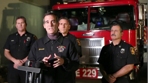 El Niño Press Conference by Mayor Garcetti – Los Angeles Fire Department